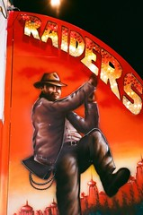 """Raiders"". Just ""Raiders"". (EllenJo) Tags: carnival arizona fairgrounds nikon harrisonford fair cottonwood nikonfm10 fujifilm 1980s indianajones carnivalride may3 raidersofthelostark nikonslr verdevalleyfair ellenjo ellenjoroberts springtimeinarizona fuji200speed may2013 1981movie"