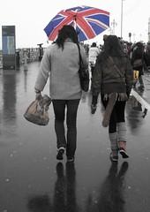 Rain Stops Play (brightondj) Tags: uk rain umbrella sussex costume brighton britain dressingup unionflag brightonfestival childrensparade brightonfestival2013 unionjackengland