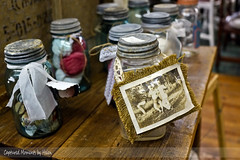 Memory jars (HelenCE) Tags: memories mckinney antiquestore downtownmckinney omot antiquefinds oldjars downtowntexas sonyrx1