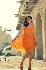 Jenine @18 (darren_martinez) Tags: orange dress photoshoot teens 18thbirthday souq debut doha qatar debutant waqif
