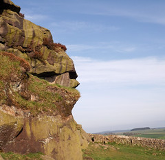 Almscliffe Crag: Looking North West (CurlewRiver) Tags: uk england rocks yorkshire almscliffecrag gritstone