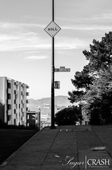 Hill (OmegaMoth) Tags: sanfrancisco california street city trees sky urban blackandwhite bw white black building monochrome beautiful sign architecture clouds landscape blackwhite nikon awesome monochromatic september adventure sidewalk journey dslr 2012 d7000 nikond7000 sugarcrashphotography
