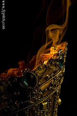 Censer XIV (TJ.Photography) Tags: lamp metal handle fire gold golden shiny glow perfume shine treasure stones metallic smoking burning flame burn ornament smell oriental orient smoker burner artifact aromatic item incense luster jewel odor artefact aroma engrave smelling censer cense