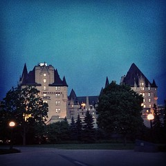 The backside of #Chateaulaurier #hotel. #Ottawa #nighttime (Asif A. Ali) Tags: square ottawa nighttime squareformat backside chateau laurier iphone5 iphoneography instagramapp uploaded:by=instagram