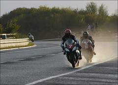 NW200 2013 LinkRoad (Eggy Boil) Tags: road wet evening roundabout link thursday damp superstock 2013 nw200 ballysally