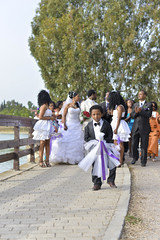 [_ Ethiopian Wedding _] (va_sfak) Tags: park bridge trees wedding boy people lake tree water children happy 50mm groom bride nikon child married singing little traditional small crowd lakes happiness wed dresses sing singers tradition ethiopia nikkor custom bliss sings sang marry customs attendants ethiopian sung marrying vasfak