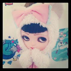 Sweet Midori (Jordana S.) Tags: cute cat square kitten doll sweet ooak manga kitty shy squareformat kawaii walden blythe midori customdoll iphoneography icydoll instagramapp uploaded:by=instagram