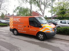 RAC Fuel Patrol Ford Transit at Stretford 20-05-2013 (furytingar) Tags: people orange ford mobile driving diesel champion drain assist transit breakdown petrol patrol rac fuel contamination stretford motorists