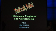 MVI_9784 RTMC May 2013 Richard Perry that is all folks 9s (ceztom) Tags: may class telescope 25 eyepiece optics rtmc sbau 2013 richardberry astrograph campoakes sx230 astrocamera
