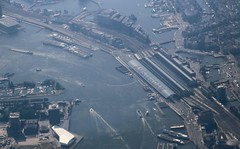 Amsterdam Central Station (Andy.Gocher) Tags: holland netherlands station amsterdam train europe central aerial windowseat aeroplanewindow sigma18250 canon100d aeroplaneseat andygocher