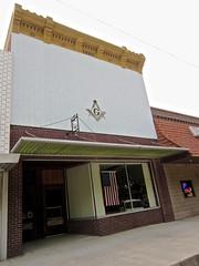 Masonic Temple, Logan, IA (Robby Virus) Tags: logan iowa masonic lodge temple building sign sings symbols masons freemasons