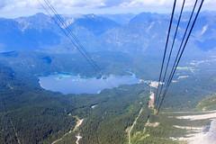 Eibsee from Zugspitze (RunningRalph) Tags: cablecar deutschland duitsland germany kabelbaan lake meer see seilbahn zugspitze garmischpartenkirchen bayern