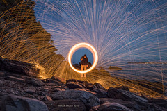The sparks fly (Mark Frost :)) Tags: steel wool sparks fire whisk spin long exposure molten metal