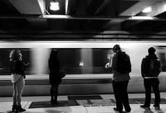 SF Subway (Mauriciooo!) Tags: sf sanfrancisco blackandwhite monochrome subway subte subterraneo gente people tunel tunnel movimiento nikon nikond7100 d7100