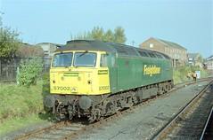 """57 002 """"Freightliner Phoenix"""" - Kidderminster (GreenHoover) Tags: severnvalleyrailway svr svrdiesel dieselgala1999 class57 freightliner 57002 kidderminster diesellocomotive dieselloco"""