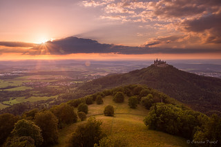 Sunset Hohenzollern Castle