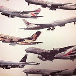 Art Lounge: At Jets we like to make collages. Of Jets.