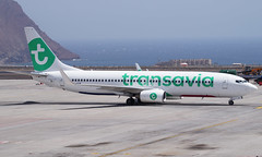 Transavia 737-8K2(WL) PH-HSW. 17/08/16. (Cameron Gaines) Tags: tfs tenerife spain canary islands transavia avgeek aviation airliner phhsw boeing field april 2009 maquarie airfinance n1796b 37160 ilfc caribbean airlines 9ytjr delivered amsterdam netherlands holland 7378k2wl september 2010 sold photography planemad leased apron taxiing arrival flight airport airfield august 2011 2016 summer s16 vacation holiday 737800 europe eu africa morocco registeration test long current three tims aviationlovers