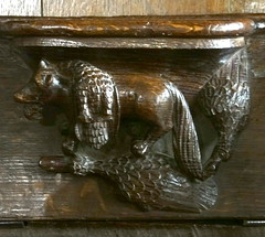 Fairford, Gloucestershire (Sheepdog Rex) Tags: misericords stmaryschurch fairford foxes ducks