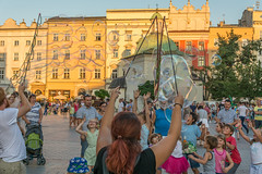 golden (stevefge) Tags: krakow poland oldtown squares summer zomer people children kids kinderen boys girls bubbles gold play playing fun reflectyourworld