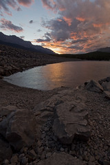 Lake Minnewanka, Banff National Park (sdlawsonphoto) Tags: lakeminnewanka banff banffnationalpark sunset summer lake rock rocks rockymountains canadianrockies canada mountains outdoors nature nationalpark nationalparks canon6d sdlawsonphoto