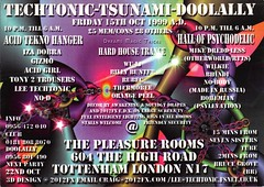Tsunami/Techtonic/Doolally (Mary Hawkins) Tags: flyer clubkid london 1999 acid house