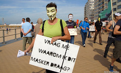 Ask me why i wear this mask (Red Cathedral is offroad + off-grid in les Pyrn) Tags: sonyalpha a77markii a77 mkii eventcoverage alpha sony colorrun sonyslta77ii slt evf translucentmirrortechnology redcathedral belgium alittlebitofcommonsenseisagoodthing activism protest oostednde oostende ostend anonymous mask guyfawkes revolution demonstration maskedface millionmaskmarch mmm2016