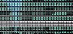 NYC Sep 16 K (John Twohig Photography) Tags: un unitednations newyork building window green blinds geometric geometery