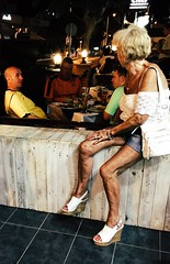 Life is a beach #5 (PaoloPiaggiPhoto) Tags: beach life lifeisabeach restaurant bar watchingpeople summer night film colourful colorful colour color woman men man person people old vacation holiday streetphotography photography street 5
