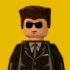 Mr. Blonde (matthismcfly) Tags: blonde doggie little bark lego suit glasses michael madsen reservoir dogs quentin tarantino brick picture yo man