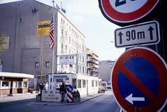 Berlin59-EastBerlin-Mike-CheckpointCharlie-Return-Sep85 (ArgyleMJH) Tags: berlin 1985 gdr ddr westberlin checkpointcharlie solidarity zimmerstrasse friedrichstrasse germany coldwar berlinwall