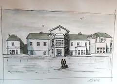 Schlosskulisse (Sketchwerk - Michel Adams) Tags: skizze sketch schloss aquarell bleistift zeichnung