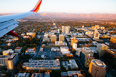 San Jose (melfoody) Tags: sanjose california airplane city aerial plane wing landing southwestairlines evening goldenhour canon melfoody