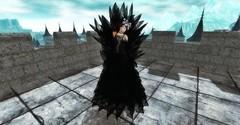 black queen (Lise Button) Tags: helloween secondlife sexy blogger black bonita outfit castle fashion fantasy maitreya belleza queen vipcreations avatar artistic fms pose portrait