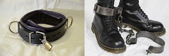 collar boots irons (collaredinboots1) Tags: collar collared chained legirons boots booted legcuffs dms docs docmartens