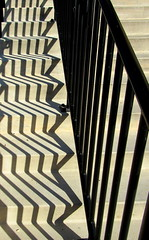 ziggy zaggy stripes (quirkyjazz) Tags: allencentennialgarden madison wisconsin outdoor steps cement shadows zigzag