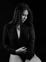 Feelings in the dark (dandrasphoto) Tags: mondzinger bea dek andrs portrait fekete fehr back white portr mterem studio hipstudio canon eos 1d mk4 mark4 girl lny rzs feelings