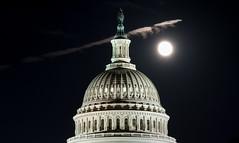 Hunter's Moon (vpickering) Tags: night moon contrails dc uscapitol huntersmoon capitol washington contrail nighttime vapor vaportrail vaportrails