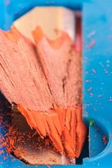 Sharp #Edge (ElleFlorio) Tags: macromondays macro mondays edge pencil crayon orange blue penknife lucaflorio