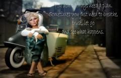 You don't always need a plan ... (Iris Okiddo) Tags: iris okiddo saint pete scooter jeans top blond blondes blue eyes heels streetview street scene