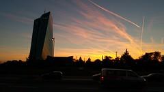 Sundown over Frankfurt (whilbl) Tags: frankfurt ecb ezb sundown sonnenuntergang