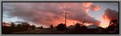 Sunset Panorama (florahaggis) Tags: horsham victoria australia pc3400 cloudsstormssunsetssunrises sky sunset clouds colours panorama stitched canon