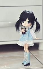 Nanami (Au Aizawa) Tags: dal darony blue japanese fashion doll needlefelting wool felt mascot panda feltwool handmade