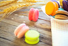 Colorful macarons on vintage pastel background. Macaron or Macaroon is sweet (Krunja) Tags: assorted assortment background bake bakery biscuit brown cake calories candy chocolate closeup coffee color colorful confection confectionery cookie cream cuisine delicate delicious dessert filtered flavor food france french gourmet green lemon macaron macaroon orange pastel pastry pink process row sandwich snack specialty stack strawberry sugar sweet tasty traditional vintage yellow