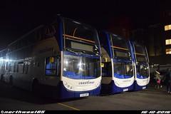 15605, 15596 and 15589 (northwest85) Tags: stagecoach worthing coastliner 700 gx10 hbp 15605 scania alexander dennis adl enviro 400 hbe 15596 hae 15589 bus depot gx10hbp gx10hae gx10hbe