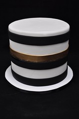 Stripy cake (jennywenny) Tags: stripy cake black white gold