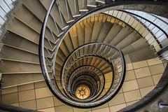 Down to the ground (Elbmaedchen) Tags: treppenauge staircase stairwell corkscrew treppen stufen roundanround architektur architecture hamburg downstairs wetterrose