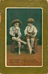 Two Urchins (mgjefferies) Tags: england postcard 1910 jefferies urchin