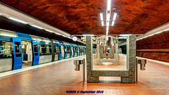 Stockholm Sweden: Skarpnck Station, Line T-17 (nabobswims) Tags: hdr highdynamicrange lightroom linet17 metro nabob nabobswims photomatix se sonya6000 station stockholm sweden tbana tunnelbana ubahn stockholmsln skarpnck subway