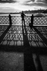 Goodmorning Istanbul (Mustafa Selcuk) Tags: morning sunrise fishing monochromatic monochrome sb siyahbeyaz bw bnw blackandwhite 16mm 2016 eminonu fujifilm istanbul street streetphotography turkey turkiye xpro2